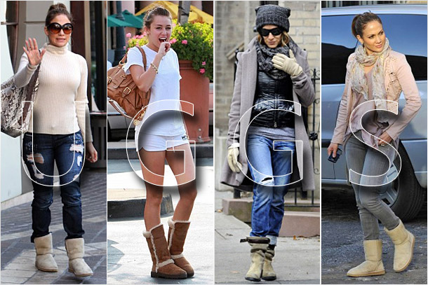 Photo of famous celebs wearing UGG boots