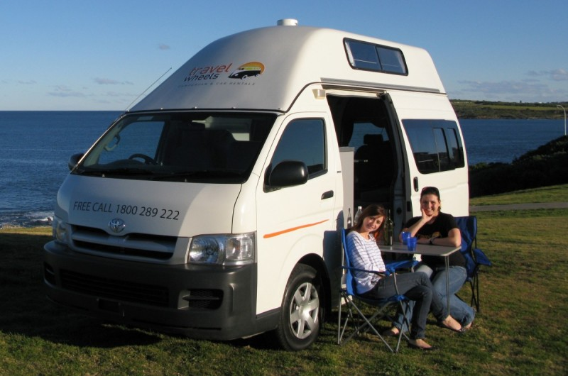 Toytoa Hiace Campervan for sale by the beach