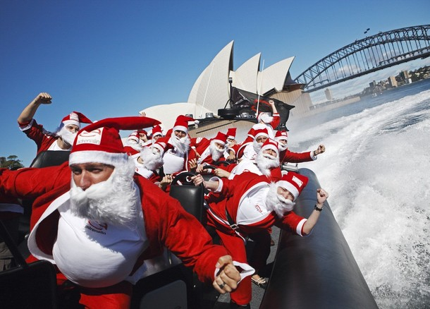 Picture of a bunch of people having a blast in Sydney with our Christmas Campervan Hire Special
