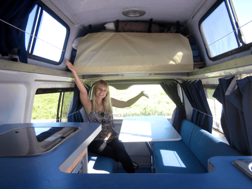 Toyota Hiace Used Campervan for sale in Sydney - view from the lounge