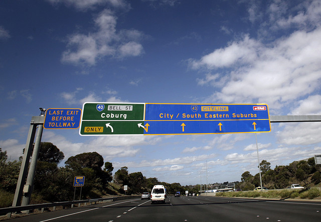 Toll Roads in Australia - Melbourne area