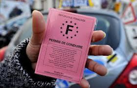 Photo d'un permis de conduire Français