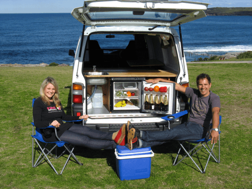 Campervan Hire Sydney to Sydney Specials - chilling at the beach