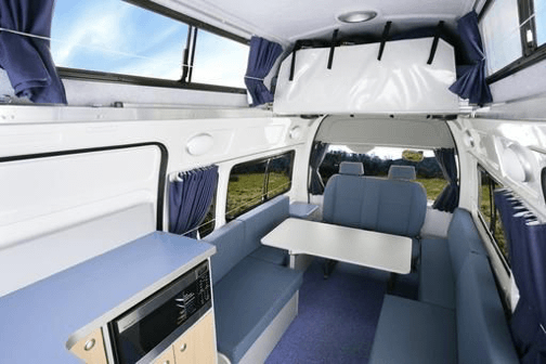 Photo of comfortable living room in this Automatic camper