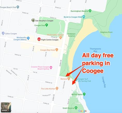 Park your campervan for free in Sydney