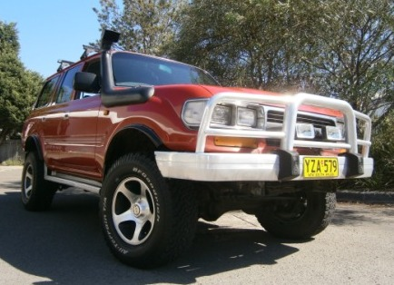 used toyota land-cruiser for sale with bull bars