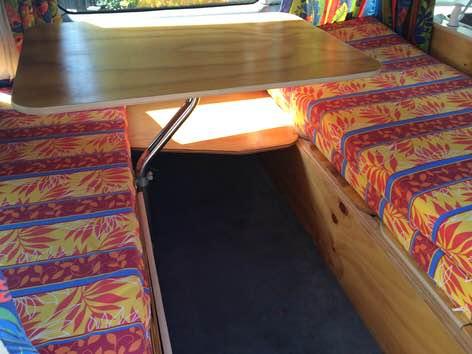 Toyota mini campervan - inside the camper