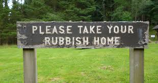Take the rubbish home!