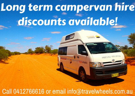 Long term campervan hire discounts available from travelwheels