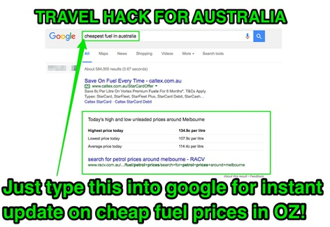 Travel hack tip for cheapest petrol price in Australia