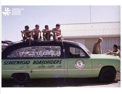 Photo courtesy of Surfworld Torquay - old school Australian surfers