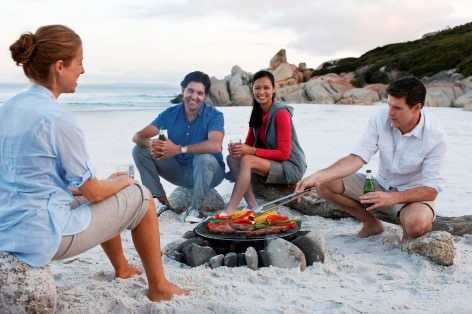 BBQ at the beach on your Melbourne to Phillip Island Tour - What a great way to review the past adventures