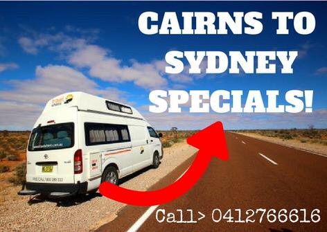 Cairns to sydney specials
