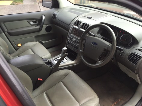 Used Ford Territory 4x4 for sale in Sydney - view from the dashboard