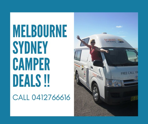 Melbourne to Sydney road trip campervan photo