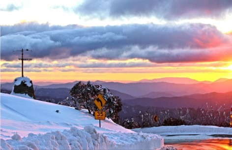 The Great Alpine Way offers some spectacular sunsets