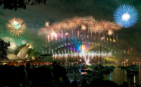 The New Year's Fireworks are one of the best festivals in Australia