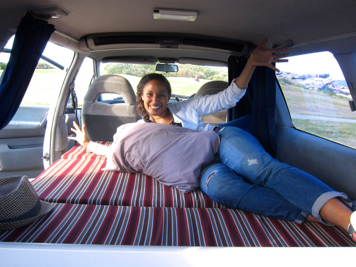 cheap campervans for sale - look at the size of the double bed!