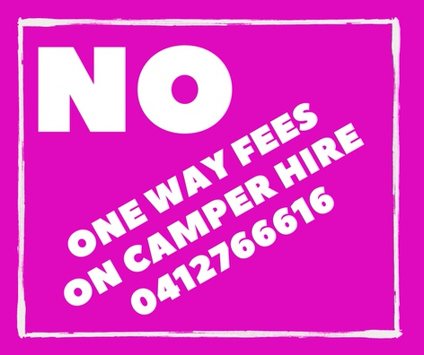 No one way fees on campervan hire