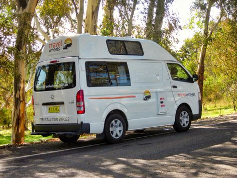 ex-hire toyota hiace campervan for sale - side view