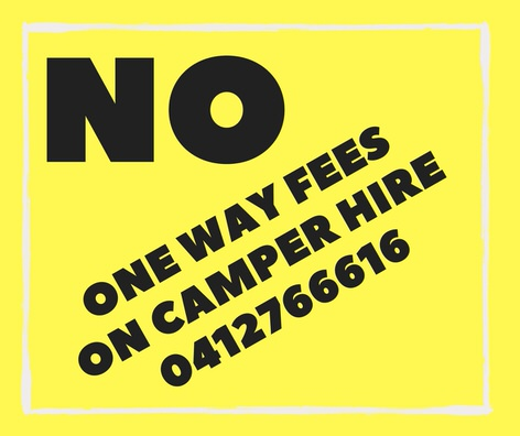 No one way fees on campervan hire from Cairns, Brisbane or Melbourne back to Sydney!