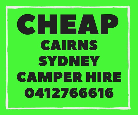 Cheap Campervan Hire Cairns to Sydney Specials!