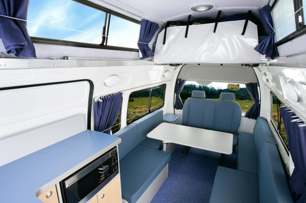 Toyota Automatic Camper - day time view of the lounge area