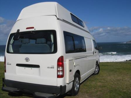 Toyota Hiace Automatic campervan rear view