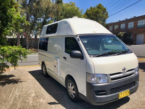 Cheap Ex-Rental Toyota Campervan for Sale - front driver side view