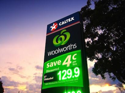 cheap fuel in Australia use supermarket voucher