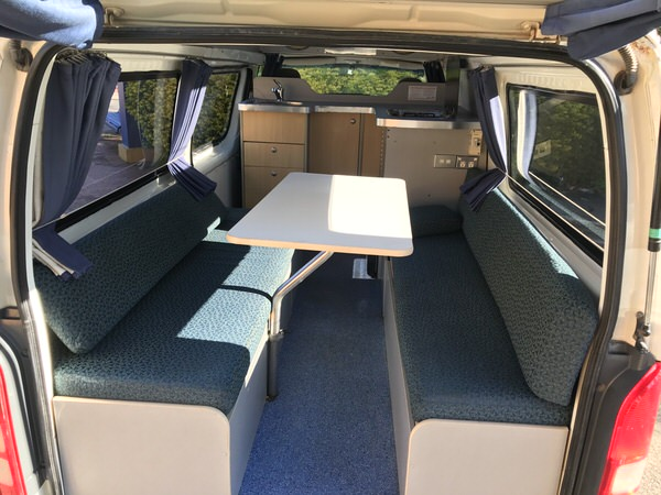 Toyota Hiace Campervan - spacious rear lounge area