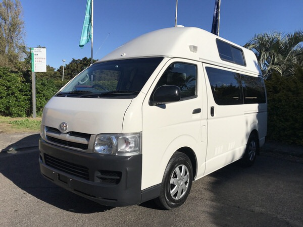 Toyota Hiace Campervans for sale in Sydney - view from the passenger front side angle