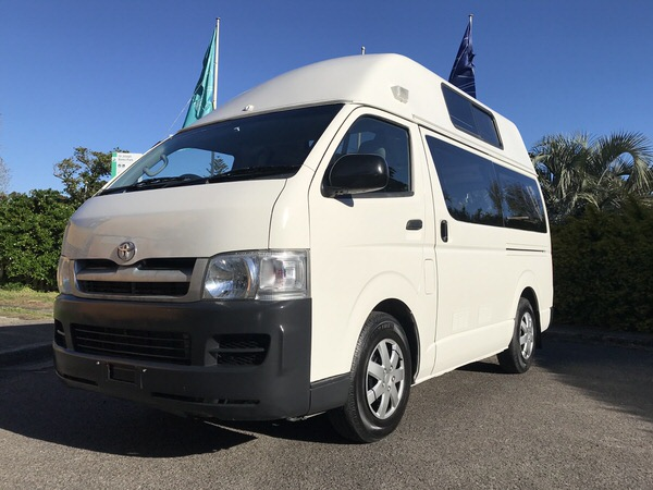 Ex-rental Toyota Hiace Campervan for sale - front side view