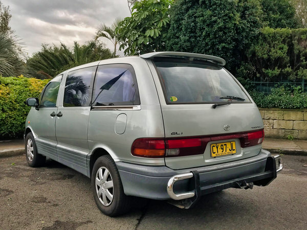 Toyota mini campervan for sale in Sydney - view from the rear