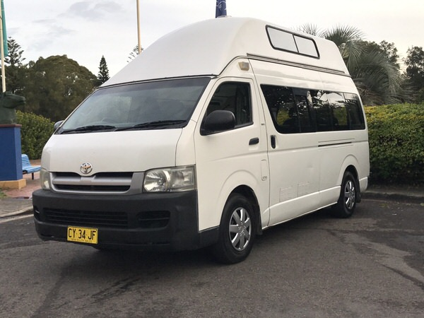 Toyota Automatic Campervans for Sale - front drivers side view