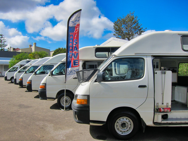 Range of used Campervans for sale at Travelwheels in Sydney
