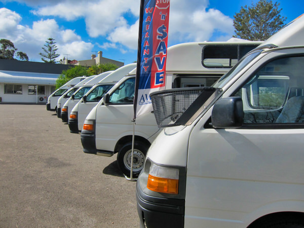 Used Toyota Hiace Campervans for sale at our depot in Sydney