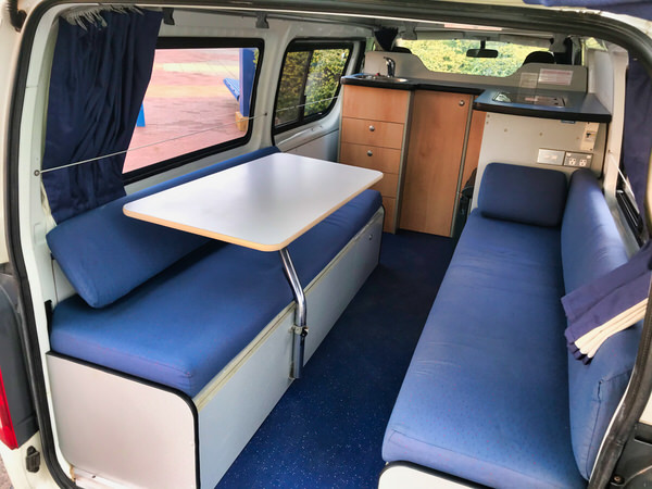 Toyota Hiace Campervan for sale - view from rear lounge area