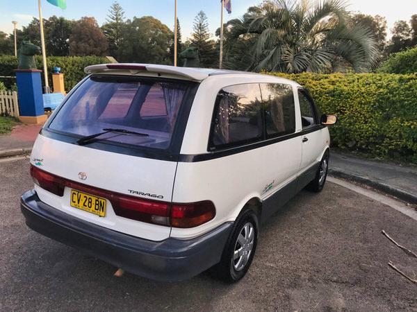 Toyta campervan for sale - rear side angle view