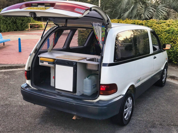Toyota campervan for sale -view from the kitchen