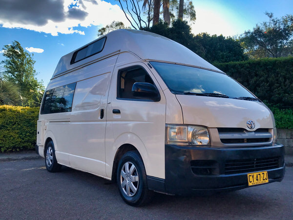 Automatic Toyota Hiace Campervans for sale - front drivers side view