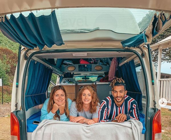 Toyota Hiace Campervan for sale - double bed big enough for three people