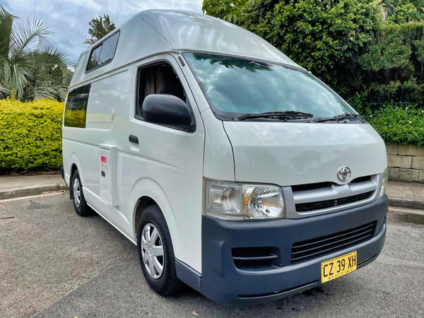Ex-hire used campervans for sale Sydney - front drivers side view