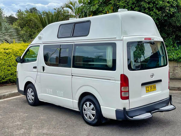 Toyota Hiace Campervans for sale in Sydney - side rear passenger view