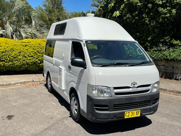 All stickers removed and super clean Toyota Hiace campervans for sale