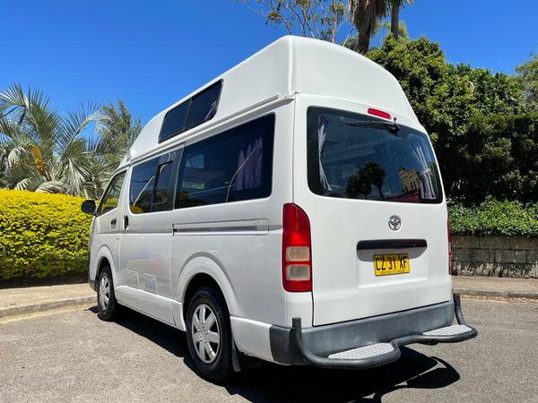 Used Toyota Hiace Campervan for sale - view from back of the vehicle