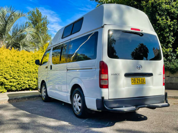 Toyota Hiace Campervan for sale in Sydney - Rear passenger side view