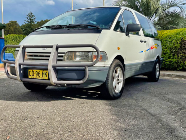 2 Person Toyota Automatic Campervan for sale - front passenger side view