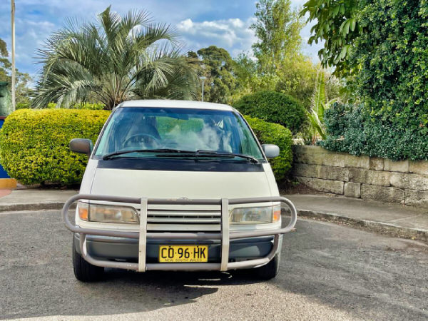 Bullbars included on this used toyota campervan for sale