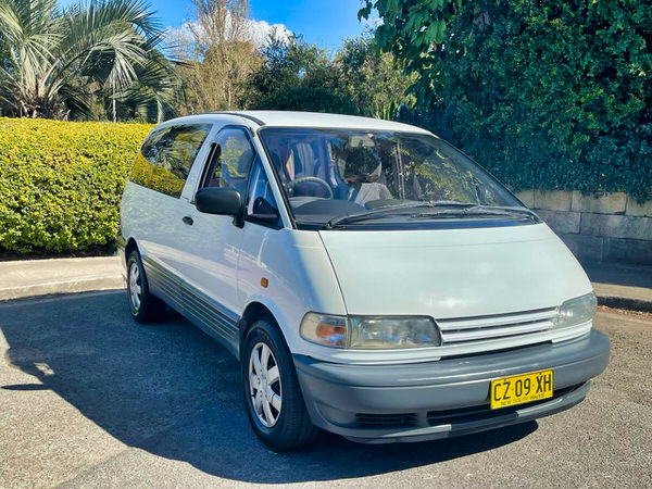 Small Toyota campervan for sale - front drivers side angle view